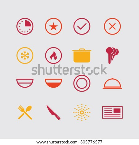 Modern cooking icons.