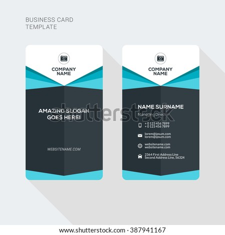 Modern Creative Clean Two Sided Business Stock Vector 387948565 ...