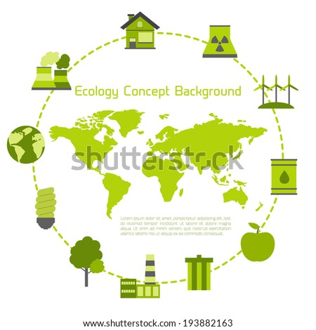 Modern flat ecology vector background for your design