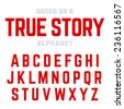 Modern font, alphabet. Ideal for headlines, posters, etc., vector. - stock vector