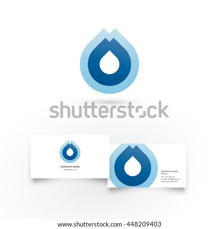 water dropmodern icon design logo element stock vector 429881536