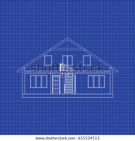 Hand sketch house on graph paper vectores en stock 442913503 modern interesting architectural background on graph paper cross section suburban house vector blueprint malvernweather Choice Image