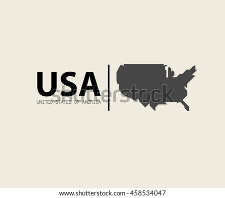 Modern Map United States Usa Vector Stock Vector - Us map icon