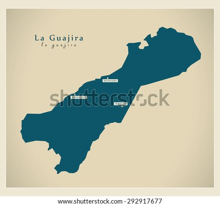 Modern Map - La Guajira CO