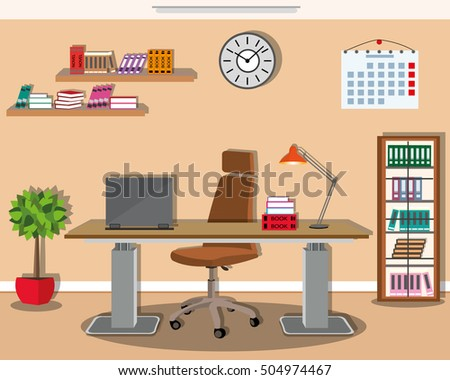 Interior office roomvector illustration design stock for Office design vector