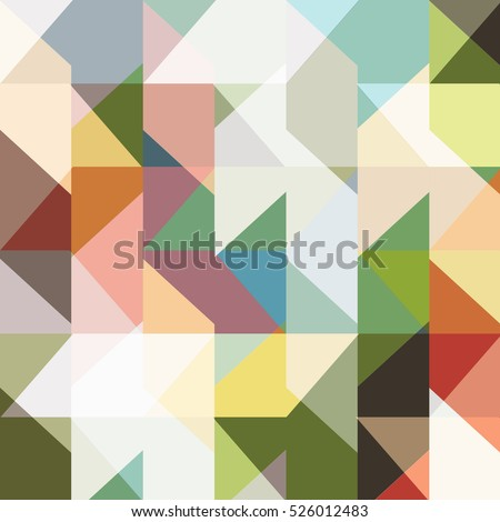 Modern seamless colored pattern of geometric shapes. Abstract geometric background. Trendy vector wallpaper