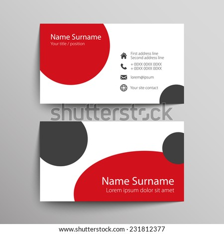 Modern Simple Business Card Template. Vector Format.  Name Card Format
