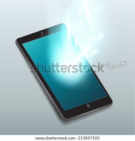 Modern Smart Phone Vector Illustration