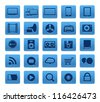 Modern Social media buttons collection isolated on white - stock vector