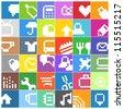 Modern social media color buttons interface icons - stock vector