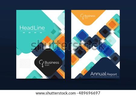 Cover Design Annual Report Cover Brochure Stock Vector 448649659