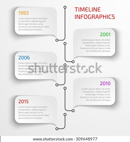 Modern timeline infographic design template with speech bubbles. Vector illustration