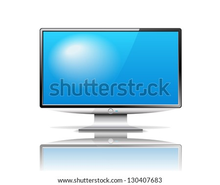 Modern TV is on the white background.
