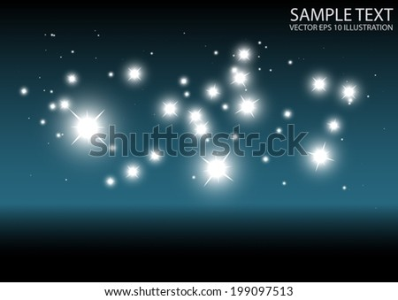 Modern vector sparkling template background - Abstract space sparks and glitters vector background illustration