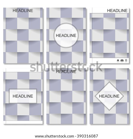 Modern vector templates for brochure, flyer, cover magazine or report in A4 size. Abstract colored background. Square design and style. Vector illustration template