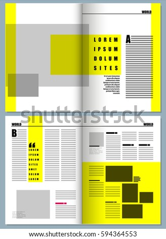 Magazine Layout Template Stock Vector 199773146 - Shutterstock