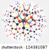 Molecular structures - stock photo