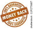 Money back vector stamp - stock