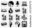 Money icons set .Finance icon set. Vector - stock vector