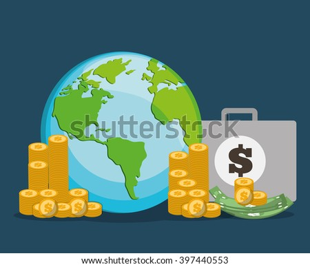 Money savings design, vector illustration