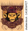 Monkey rapper/ Also available in separate layer the original vector without scratch - stock