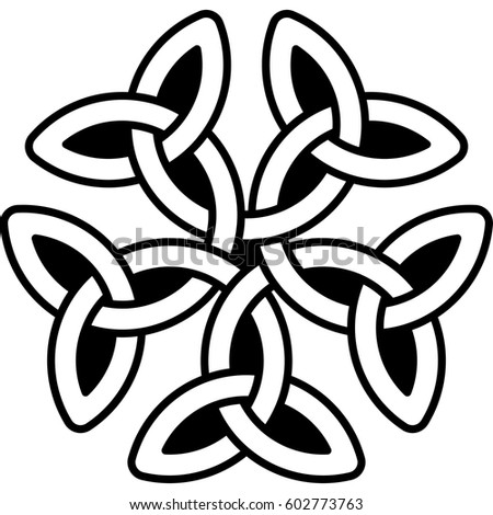 infinity ornament. infinity symbol. pattern for scandinavian or celtic ornament. vector illustration ornament