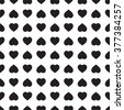 Monochrome seamless pattern with hearts. Texture for scrapbooking, wrapping paper, textiles, home decor, skins smartphones backgrounds cards, website, web page, - stock vector