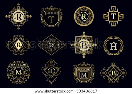 Monogram Design Elements Graceful Template Calligraphic Stock ...