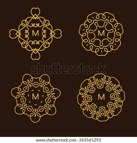 Monogram design template. Elegant logo design, vector illustration