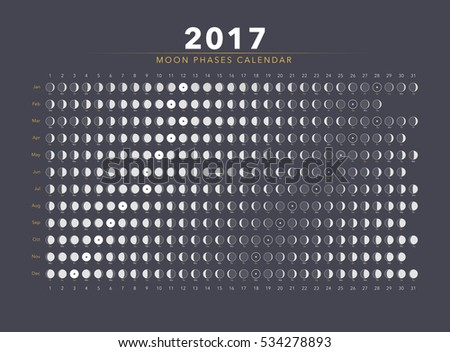 moon phases calendar vector