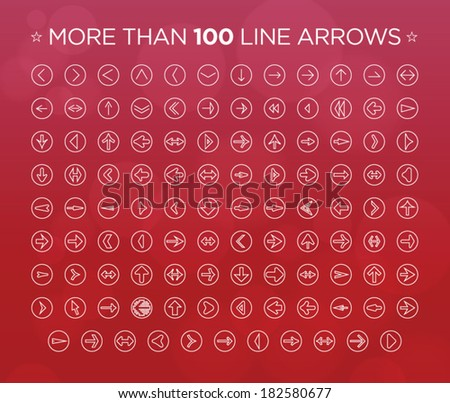 More than 100 line arrows