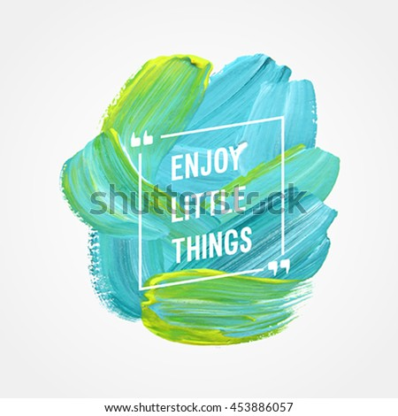 backround paint your dream motivation poster follow your dream vector stock vector 453886063