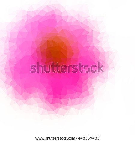 Multicolor low poly abstract background. Vector.