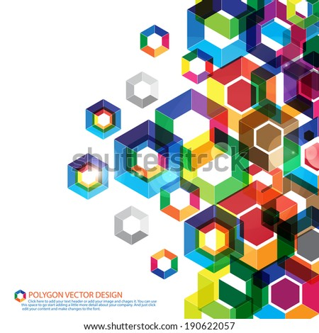 Multicolor polygon vector design