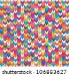 Multicolor seamless knitted background. EPS 8 vector illustration. - stock