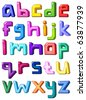 Multicolor small letters - stock photo