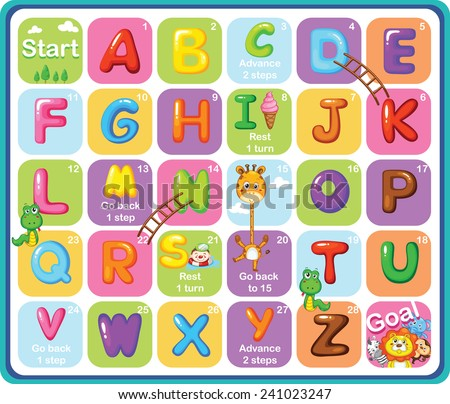 Multicolored Cartoon Vector Alphabets