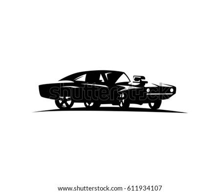 Car Vintage Cabrio Line Draw Stock Vector Shutterstock