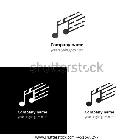 Music Note Fast Motion Beat Flat Stock Vector 451669288 - Shutterstock