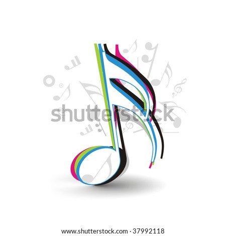 music note vector illustration isolated on white background