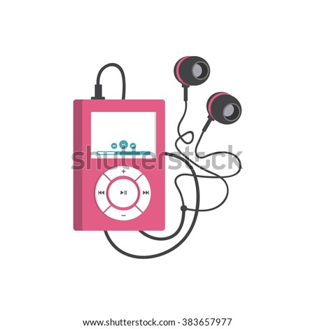 Music player red mp3