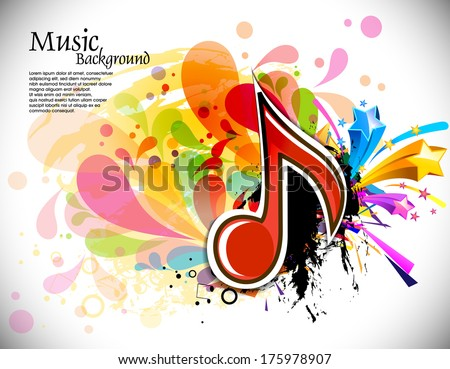 music theme background with musical note,vector Illustration