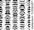 Mustache seamless pattern - stock