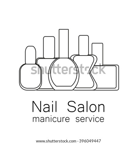 Sector symbols coloring pages for Nail salon coloring pages
