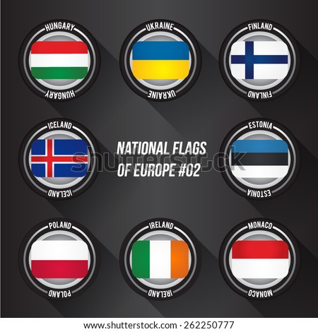 National Flags Of Europe : Vector Set 02
