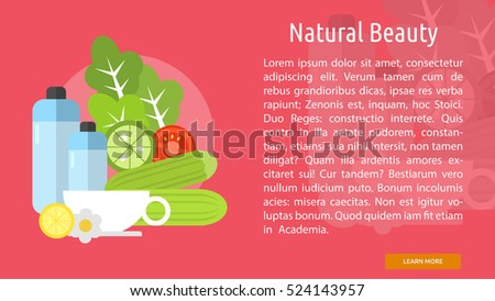 Natural Beauty Conceptual Banner