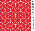Nautical seamless pattern .marine theme background. vector illustration - stock vector
