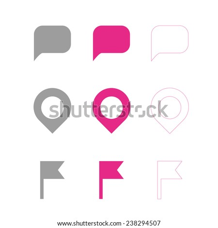 Navigation marker, map pointer, vector icon