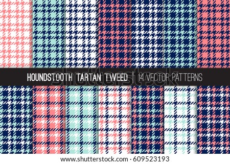 Tartan Pattern brown houndstooth tartan tweed vector patterns stock vector