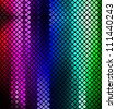 Neon abstract mosaic design on dark vector background - stock